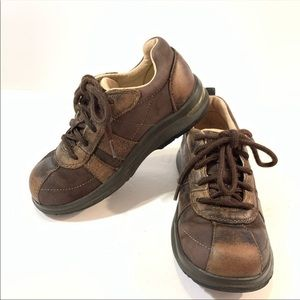Stride Rite TT Barney Brown Leather Lace-Up Shoes